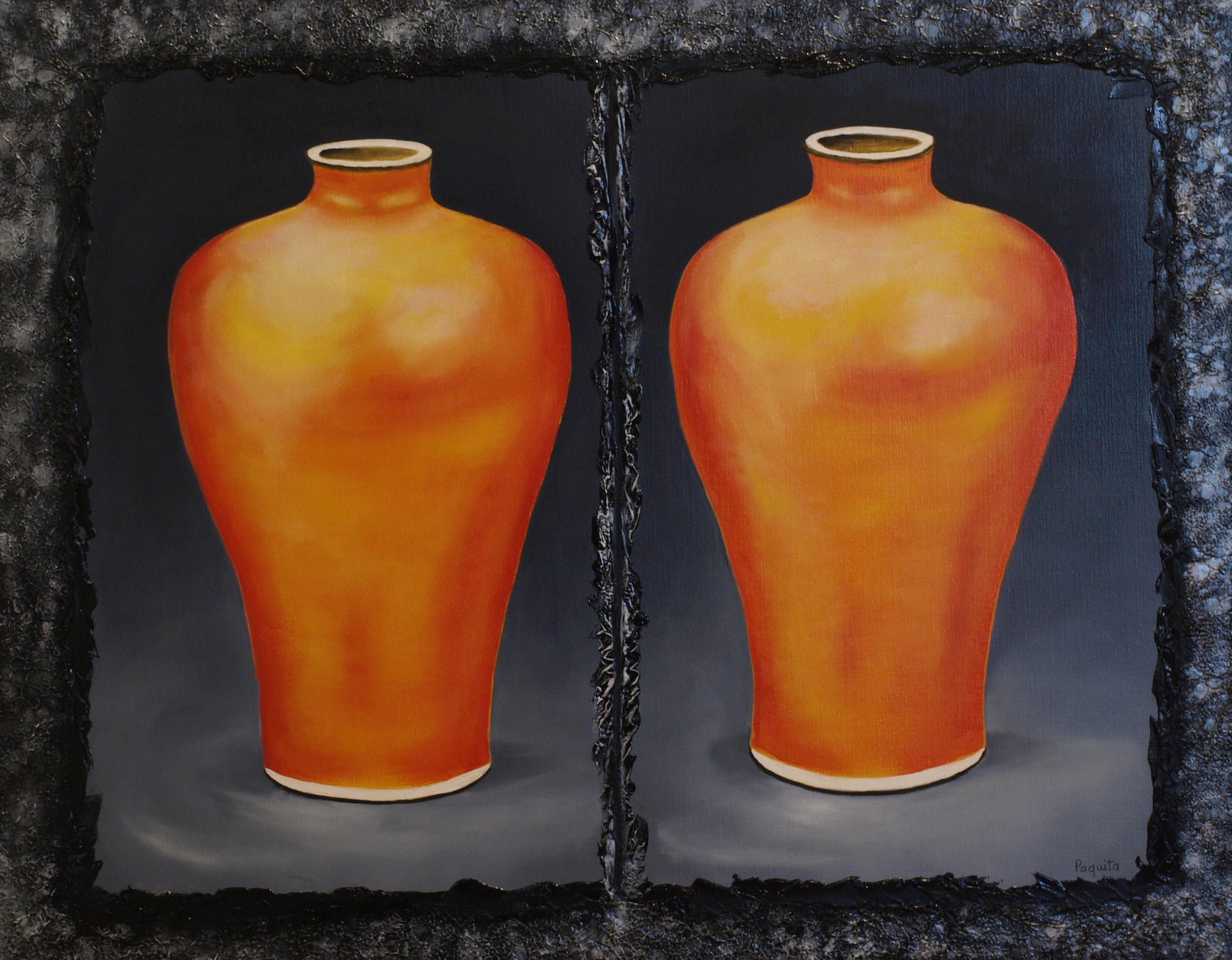 Oranje vazen
